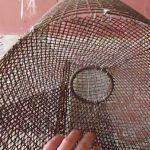 Раколовка из металлической сетки