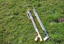 Ружья для подводной охоты на траве