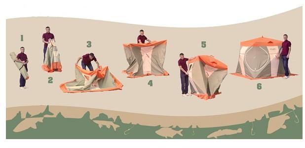 Сбор зимней палатки